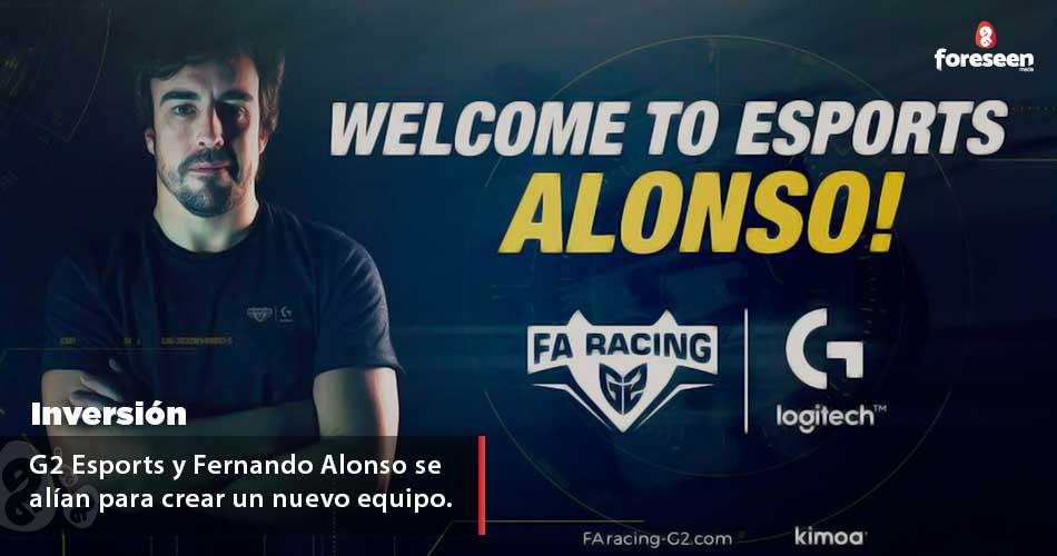 Fernando Alonso se alía con G2 Esports